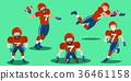 cartoon american football players 36461158