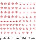Set of eighty two blossoming sakura Japanese 36463549