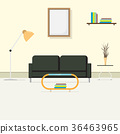The comfortable interior living room 36463965