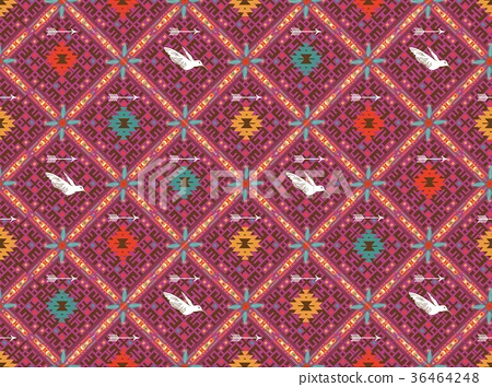 Fancy abstract geometric pattern in tribal style 36464248