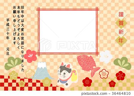 紙製工藝品 新年賀卡 賀年片 36464810