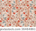Seamless valentines decor pattern with flowers 36464861
