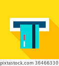 Credit Card Atm Flat Icon 36466330