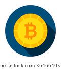Bitcoin Money Circle Icon 36466405