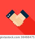 Handshake Flat Icon 36466475