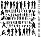 Business People Silhouettes Big Set 36466618
