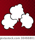 Speech Bubbles on Pop Art Background 36466801