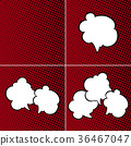 Set of Speech Bubbles on Red Background 36467047