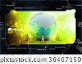 Globe and traffic cone 36467159