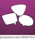 Speech Bubbles on Pop Art Background 36467455