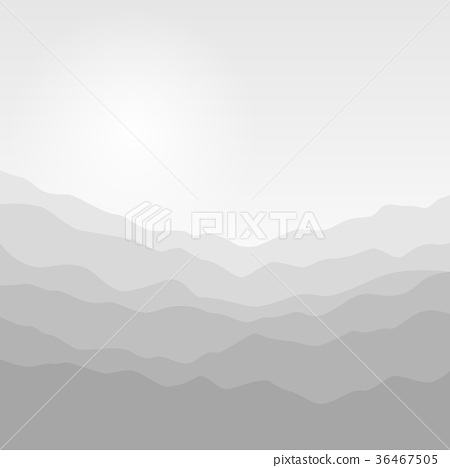 Silhouette of the Mountains  at Sunrise 36467505