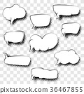 Set of Speech Bubbles 36467855