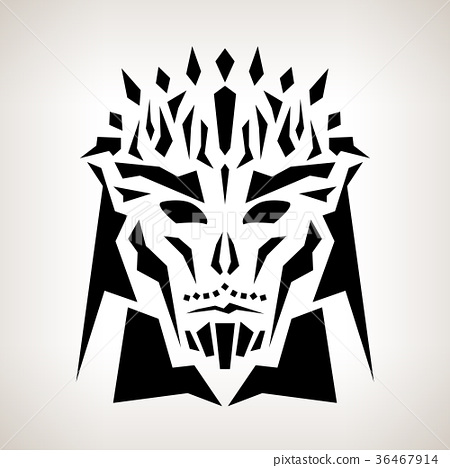 Abstract Mask, Tribal Style 36467914