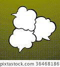 Speech Bubbles on Pop Art Background 36468186
