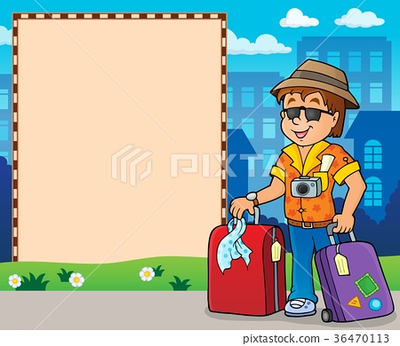 Frame with travel thematics 2 36470113