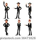 Set of jew icons 36473026