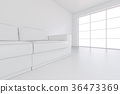 white, background, sofa 36473369
