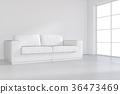 white, room, empty 36473469