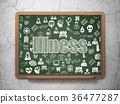 chalkboard, blackboard, illness 36477287