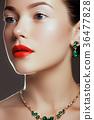 Fashion beauty girl. Makeup, fashion concept. Spa 36477828