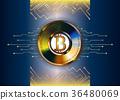 bitcoin vector background 36480069