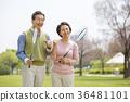 an elderly couple life, very harmoniously like newlyweds 312 36481101