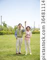 an elderly couple life, very harmoniously like newlyweds 307 36481114