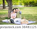 an elderly couple life, very harmoniously like newlyweds 282 36481125