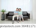 an elderly couple life, very harmoniously like newlyweds 231 36481171