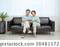 an elderly couple life, very harmoniously like newlyweds 223 36481172