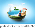 Hot Summer Theme - Graphic visual design 003 36481697