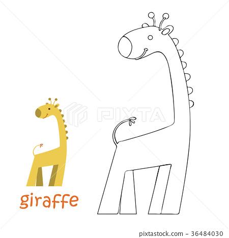 Kids coloring page - giraffe 36484030