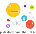 Hospital Icon Illustration 36486032