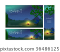 llustrations of banners of Jeju in summer,easy to edit with your own background scenery,color,or picture behind 36486125