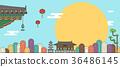 Korean traditional pattern background 008 36486145