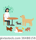 Living with a pet 007 - stock illustration 36486156