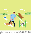 Living with a pet 002 - stock illustration 36486158