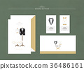 Wedding Invitation, Square Design 009 36486161