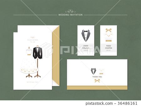 Wedding Invitation, Square Design 009 36486161