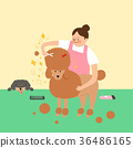Living with a pet 003 - stock illustration 36486165