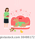Living with a pet 012 - stock illustration 36486172