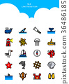 Set of Icon - Symbolizing summer and autumn 004 36486185