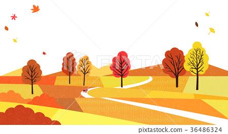 A beautiful autumn landscape 002 36486324