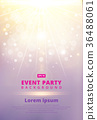 Pink Festive flyer or postertemplate with Bokeh 36488061