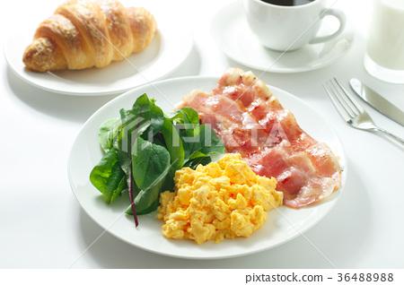 早餐 熏肉 麵包 36488988