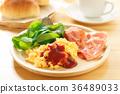 早餐 熏肉 炒雞蛋 36489033
