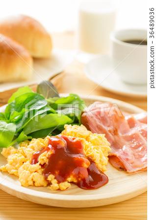 早餐 熏肉 炒雞蛋 36489036