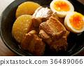 kakuni, stew of cubed pork, stewed 36489066