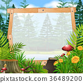 Border template with forest in background 36489200