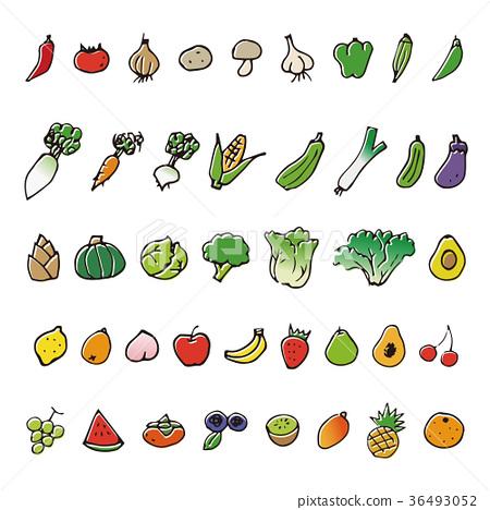 蔬菜 水果 手繪 36493052